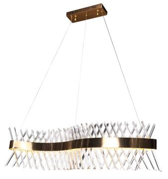 LED CRYSTAL AND GOLD BAR PENDANT