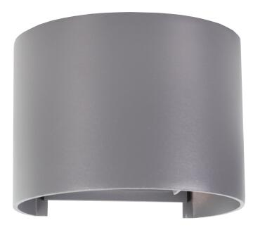 LED ROUND WALL LIGHT SILVER IP54