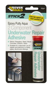 stick2 epoxy putty aqua (ab) 50g