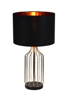 TABLE LAMP METAL & FABRIC
