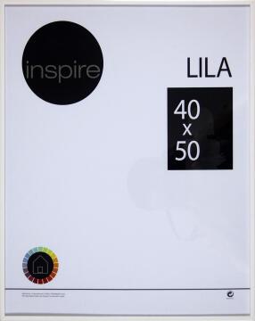 FRAME INSPIRE LILA WHITE 40X50CM