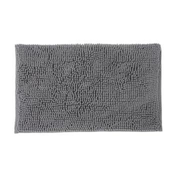 Bath mat woven cotton SENSEA Kate dark grey 40X60CM
