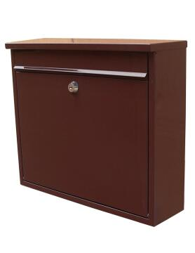 MAILBOX STEEL DARK BROWN STD