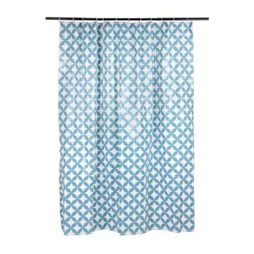 Shower curtains pvc SENSEA carolle blue 200cm