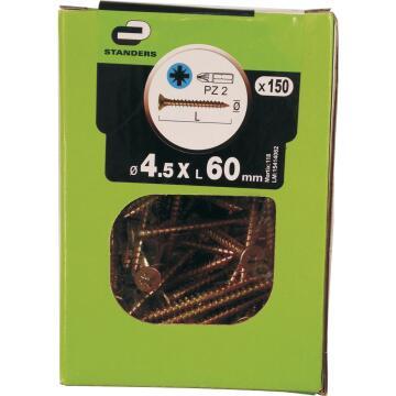 C/BRD SCRW ZN PLTD 4.5X60 STD 150P YLW