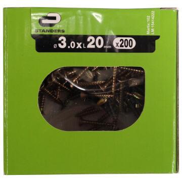 C/BRD SCRW ZN PLTD 3.0X2 STD 200P YLW