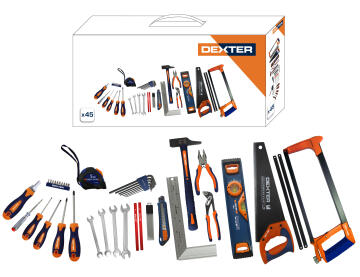 TOOLSET BI MATERIALS DEXTER 45PC