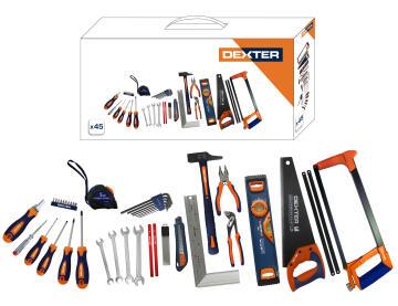 Toolset bi materials DEXTER 45 pieces