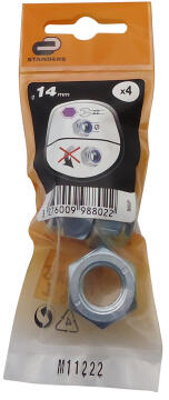1-WAY NUT D14 4P ZINC PLTD STEEL