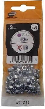 1-WAY NUT D3 80P ZINC PLTD STEEL