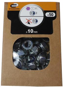 1-WAY NUT D10 50P ZINC PLTD STEEL BOX