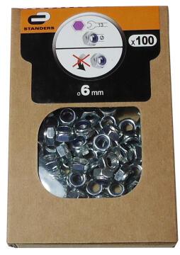 1-WAY NUT D6 60P ZINC PLTD STEEL BOX