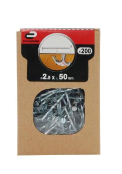 DRIVE SCREW FLT NAIL STD 200P 2.5X50 BOX