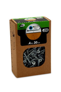 C.BOARD SCREW CSK PZ HD 250P 4X30 BOX