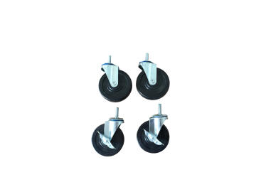 CASTERS NYLON CHROME 4PC 100MM