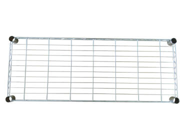 STANDARD RECTANGLAR SHELF CHROME 35X90CM