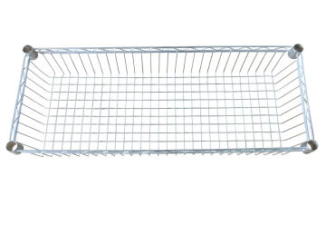 BASKET SHELF CHROME 35X90X15CM
