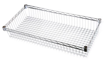 BASKET SHELF CHROME 45X90X15CM
