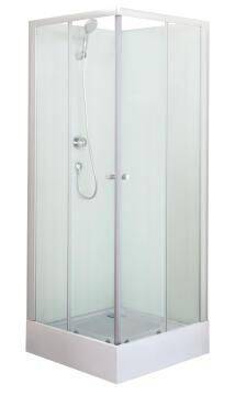 Shower cabin Nerea2 white 80x80x200cm