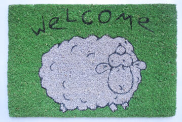 DOORMAT PVC NAT SHEEP WELCOME 40X60CM
