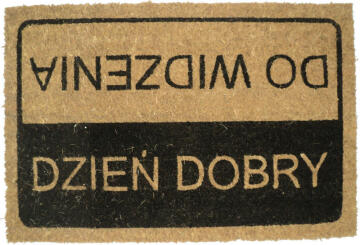 DOORMAT PRINTED PVC DOBRY 40X60CM