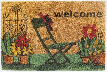 DOORMAT PVC NAT WELCOME GARDEN 40X60CM