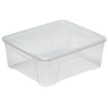 CLEAR PLASTIC BOX 16,9L