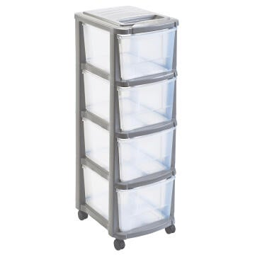 PLASTIC TOWER 4 DRAWERS