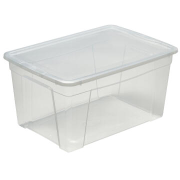 CLEAR PLASTIC BOX 43L