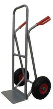 Rigid handtruck grey red handle 200kg