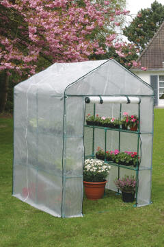 Greenhouse 4 Tier Nortene 1.43Mx1.43Mx1.95M Reinforced Film