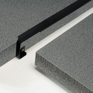 Kitchen worktop aluminium junction angle black 38mm