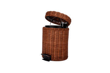 Dustbin bamboo SENSEA rattan dark brown 3l