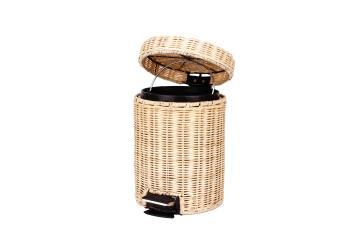 Dustbin bamboo SENSEA rattan brown 3l