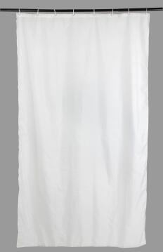 Shower Curtain polyester SENSEA Sunny white 120X200CM