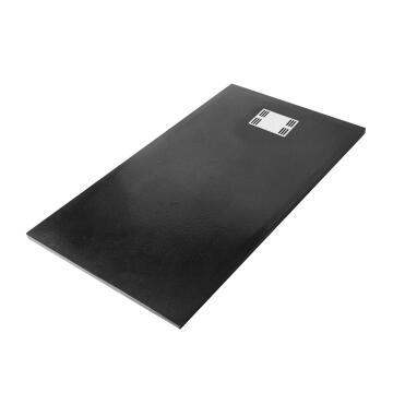 shower tray rectangle resin SENSEA Slate black 140X90cm