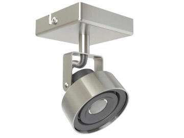 SINGLE SPOT 5W INTEGRATED LED,IRON, BRUS