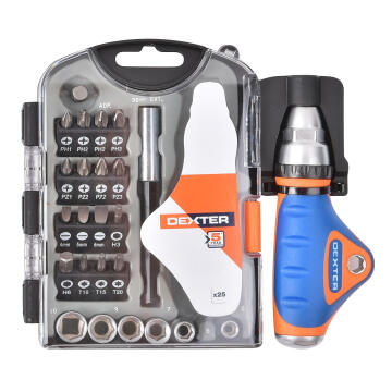 TORQ RATCHET SDRIVER BIT SET DEXTER 25PC