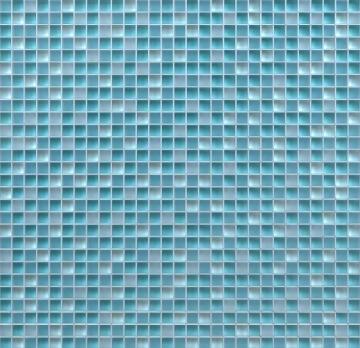 MOSAIC GLASS BLUE ARTN 300X300MM
