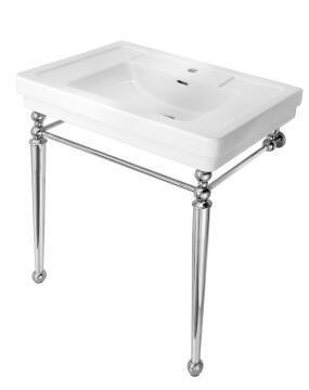 Basin free standing+ bracket ceramic LUNA white 84.5X55.5X37CM